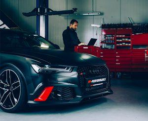 Jimmy Pelka und sein Masterpiece, der Audi RS6, KfZ-Mechaniker